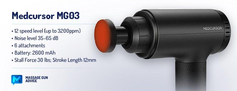 Medcursor mg03 Heated Massage Gun specifications