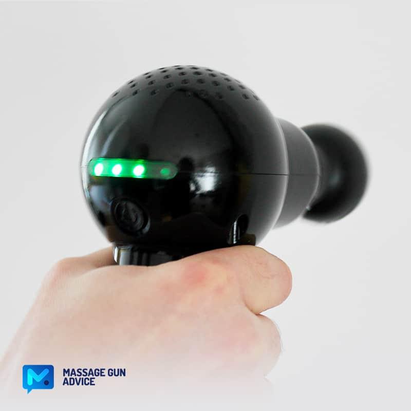 battery level rexogun mini massage gun