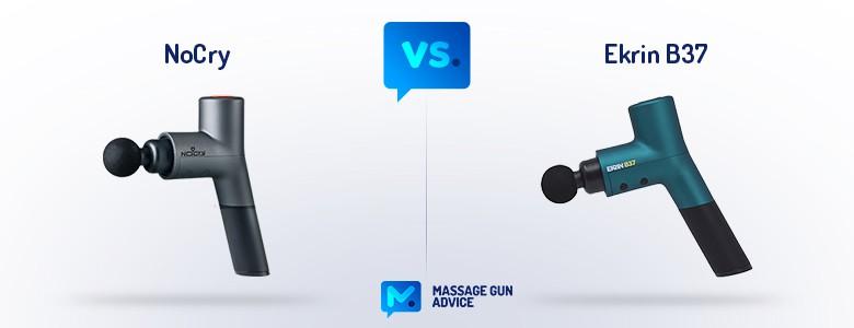 nocry massage gun vs ekrin b37