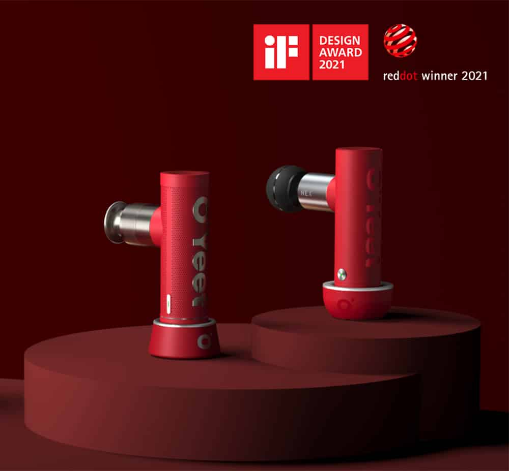 OYeet massager iF and Red Dot Awards