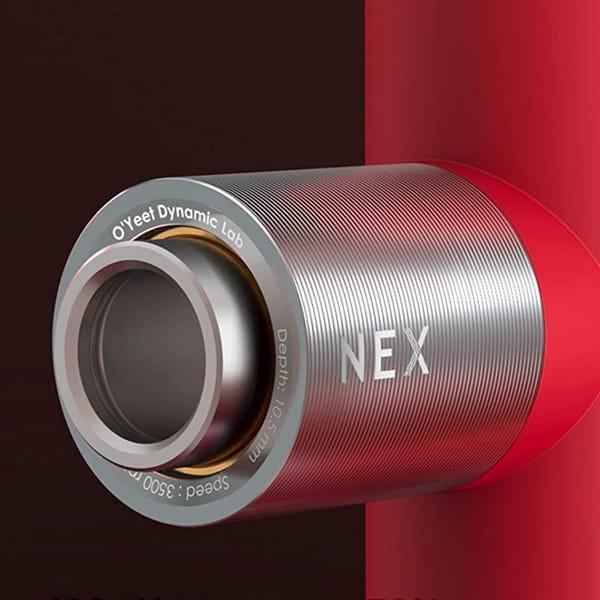 oyeet nex massage gun metal dual-shaft