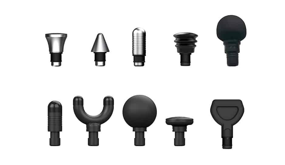 Sonic LX Professional Percussion Massage Gun attachments