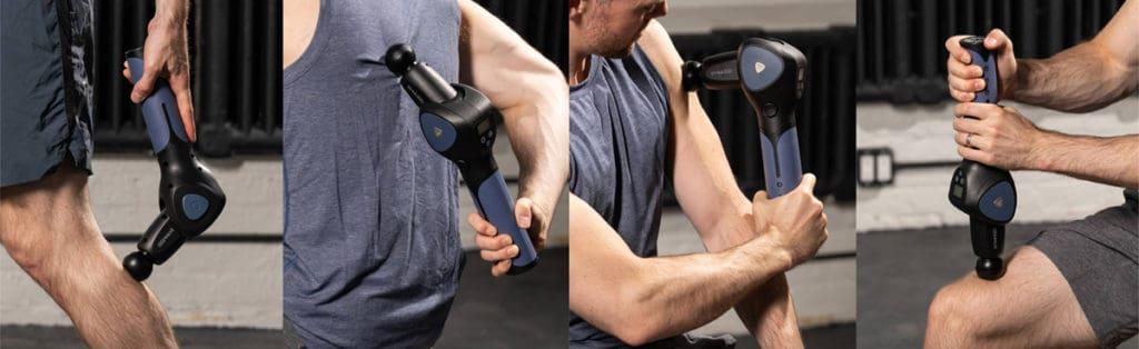 massage gun with adjustable arm