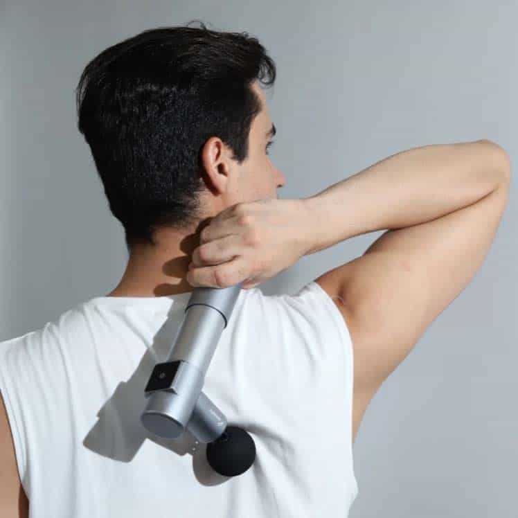 addsfit mini pro massage gun in use