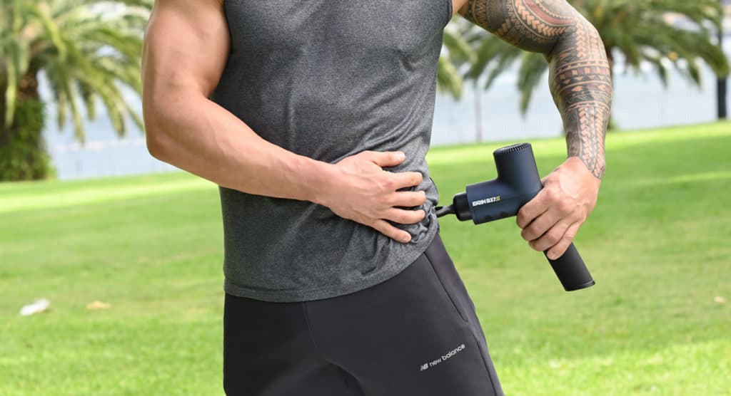 use massage gun to help with sciatica nerve pain